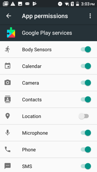 Google Play Services Screenshot 2