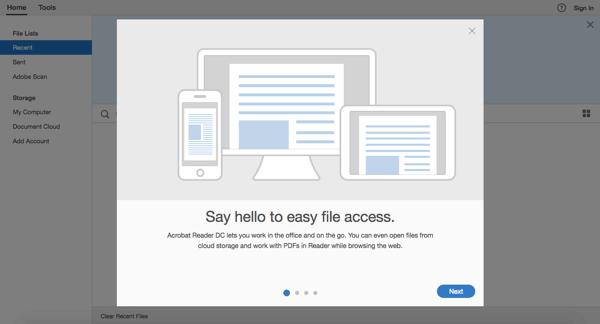 Adobe Reader Screenshot 1