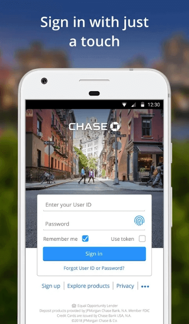 Chase Online Screenshot 1