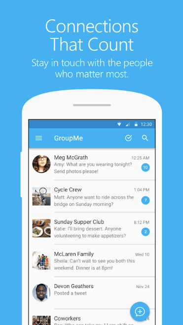 GroupMe Screenshot 1