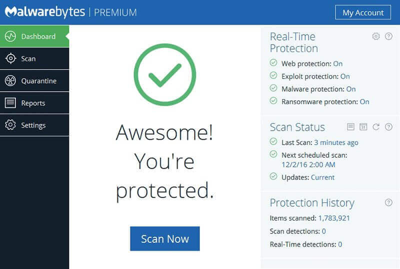 Malwarebytes Screenshot 1