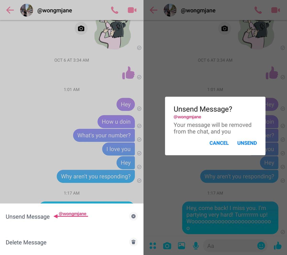 Messenger-Unsend
