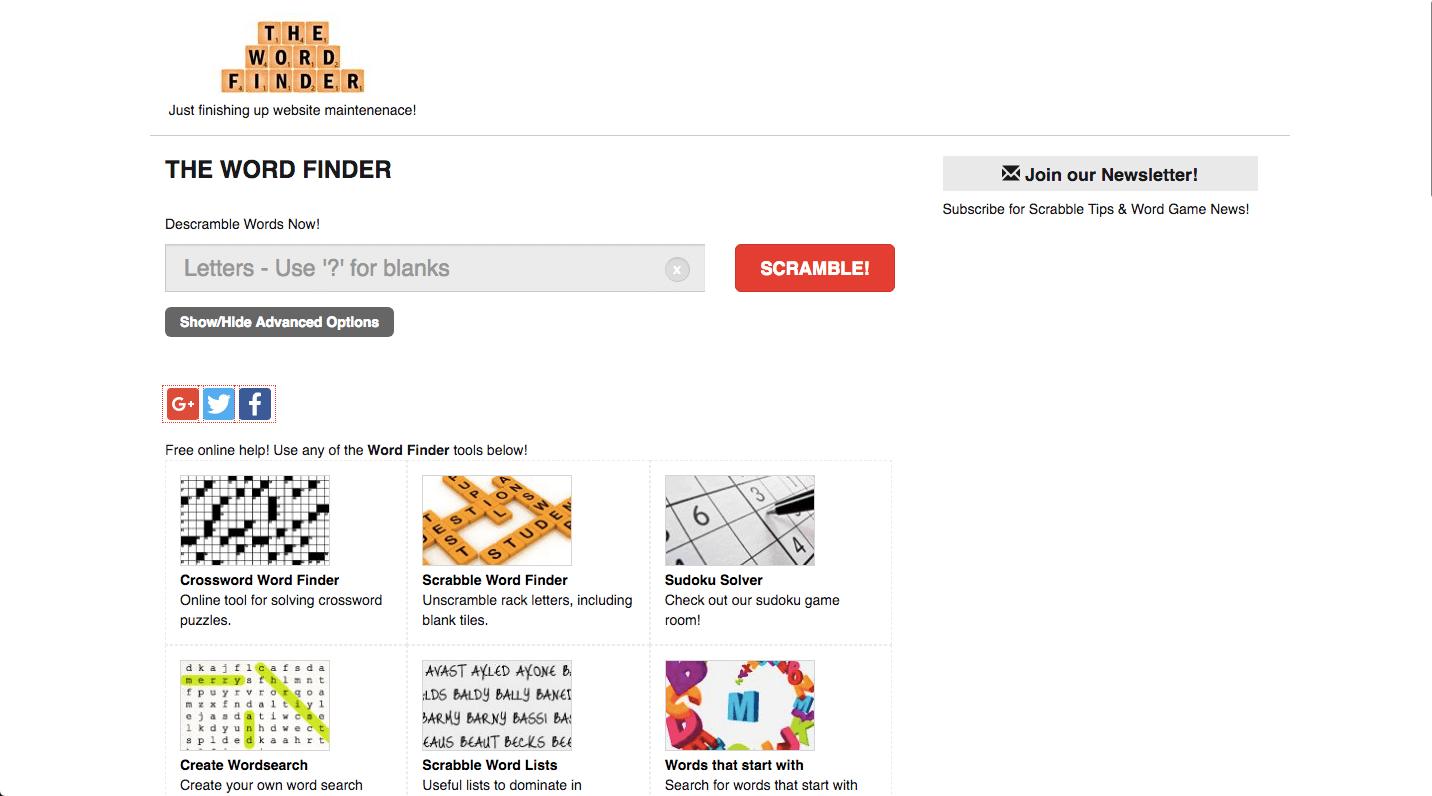 Scrabble Word Finder Screenshot 3