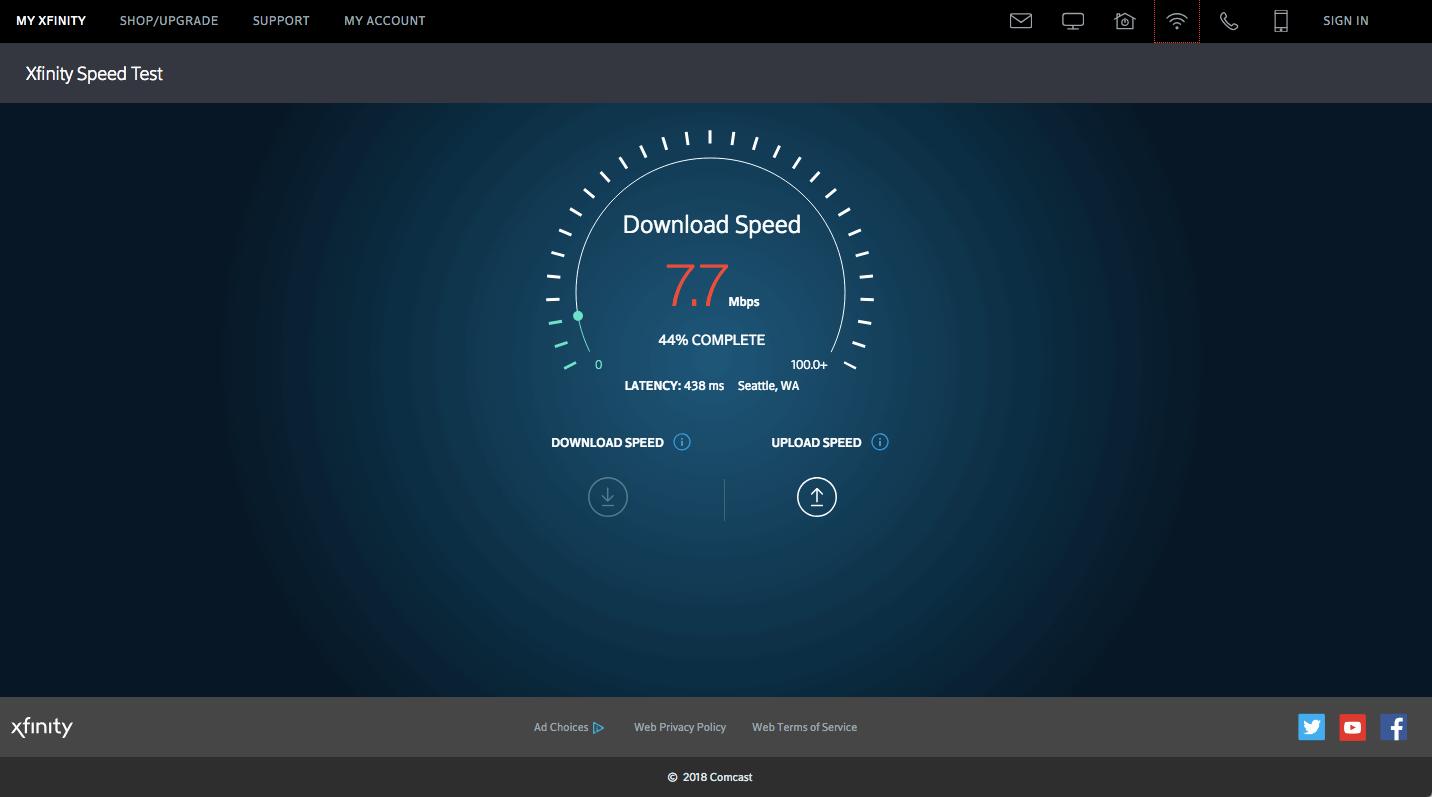 Speed Test Screenshot 5